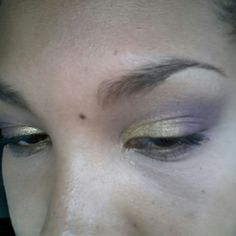 gold and lilac