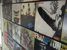 Hanging records on wall