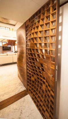 Anmi residence modern corridor, hallway & stairs by andblack design studio modern Front Wall Design, Wooden Front Door Design, Main Entrance Door Design, Modern Front Door, Entrance Foyer, Flush Door Design, Door Design Interior, Foyer Design, Gate Design