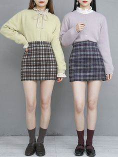 마리쉬♥패션 트렌드북! Twin Outfits, Plaid Outfits, Edgy Outfits, Korean Outfits, Cute Casual Outfits, Matching Outfits Best Friend, Best Friend Outfits, Korean Girl Fashion, Korean Street Fashion