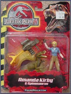 Hasbro Jurassic Park III Amanda Kirby & Spinosaurus 2001