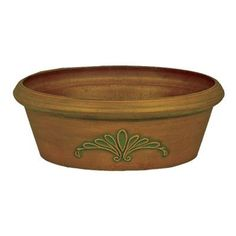 """Arcadia Garden Products PSW Round Pot Planter Size: 10"""" x 3.5"""", Color: Chocolate"""