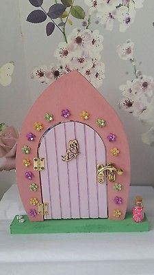 Christmas wish lodge wooden elf and fairy door decoration for Painted fairy doors