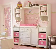 Pottery Barn Kids offers kids & baby furniture, bedding and toys designed to delight and inspire. Create or shop a baby registry to find the perfect present. Nursery Room, Kids Bedroom, Baby Room, Refurbished Furniture, Repurposed Furniture, Old Entertainment Centers, Entertainment Stand, Baby Changing Tables, Nursery Inspiration