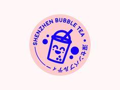 Brochure Folds, Branding Design, Logo Design, Graphic Design, Tea Logo, Bubble Milk Tea, Food Poster Design, Drinks Logo, Tea Design