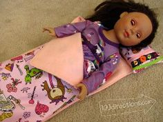 Tutorial: Sleeping bag and pillow for a doll