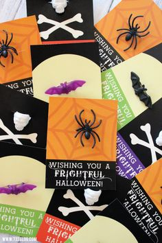 These Printable Halloween Treat Cards are the perfect no candy Halloween treat for friends and neighbors!