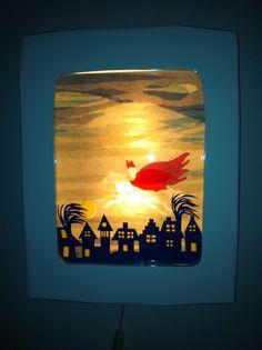 Mijn zelfgemaakte Transparantenlamp. @mijnhartje45