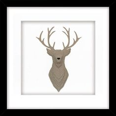 BuyDaisy Maison - Stag Framed 3D Laser-cut, 41.5 x 41.5cm Online at johnlewis.com