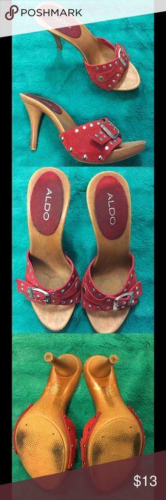 Heels Red short heels Aldo Shoes Heels