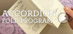 DIY accordion fold wedding program | Download & Print