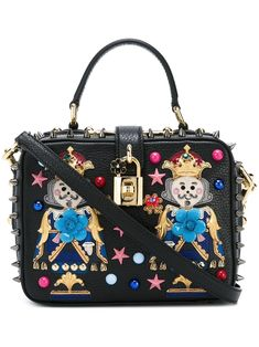 Dolce & Gabbana king patch 'Rosalia' tote
