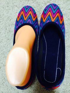 Womens Ballet flats Chevron Shoes Handmade flip Flops by Artsiart, $25.99