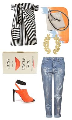 """Gege"" by ghuzayil ❤ liked on Polyvore featuring Monse, Topshop, ASOS, Jaeger, Chanel, Kate Spade and Eddera"