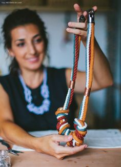 Um dos colares de corda  da nova coleção designer prontinho para ser entregue.