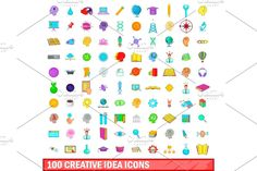 Cartoon Styles, Icon Set, The 100, Student, Map, Illustration, Creative, Design, Illustrations