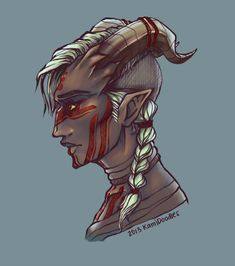 qunari inquisitor by kamidoodles.deviantart.com on @deviantART