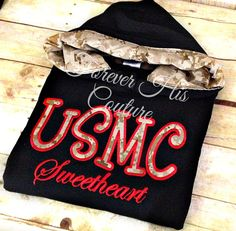 USMC pullover with digital desert Camo hood. by ForeverHisCouture