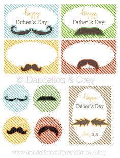 Father's Day printable. Love! #moustache #printable
