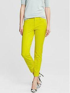 Sloan-Fit Slim Ankle Pant   Banana Republic - Yellow/Cobalt/