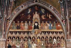 Andrea di Bonaiuto - Trionfo di San Tommaso d'Aquino - affresco - 1365-1367 - Cappellone degli Spagnoli - Museo di Santa Maria Novella, Firenze