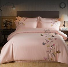 Butterfly Embroidery Luxury White Silky Egyptian Cotton Bedding Sets – I sell what I love Queen Bed Linen, Bed Linen Sets, Bed Cover Design, Bed Linen Design, Cotton Bedding Sets, Queen Bedding Sets, King Size Duvet Covers, Duvet Cover Sets, Bed Sheet Sets
