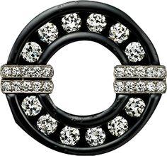 ALBION ART Antique Jewelry - Diamond, Platinum Brooch, Tiffany  ca. 1912.