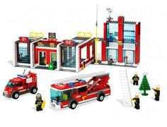 The Fire Station from the Lego City collection - a great selection of Lego construction sets at Wonderland Models.    One of our favourite sets in the Lego City Fire range is the Fire Station.  These brave fire-fighters are ready to handle any emergency in LEGO City! The alarm goes off at the Fire Station – there's a big fire across town! Quick, run out of the living quarters, slide down the fireman's pole and hurry to the garage where the fire truck and rescue truck are waiting to go.