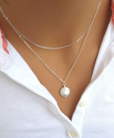 Hey, I found this really awesome Etsy listing at https://www.etsy.com/listing/82982039/coin-pearl-double-strand-silver-necklace
