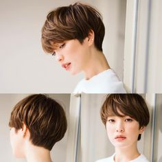 Image may contain: 2 people Modern Short Hairstyles, Best Short Haircuts, Girl Haircuts, Pixie Hairstyles, Pixie Haircut, Japanese Short Hair, Japanese Hairstyle, Really Short Hair, Girl Short Hair