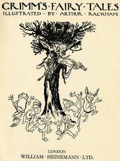Frontispieces for 'Hansel and Grethel and other Tales' and 'Grimm's Fairy Tales' illustrated by Arthur Rackham. Elf Dance, Happy Stories, Brothers Grimm, Arthur Rackham, Grimm Fairy Tales, Fairytale Art, Pin Up Art, Famous Artists, Book Illustration