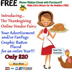 Online Thanksgiving Vendor Fair In Session Now Until Nov. 22nd.  Join Us Now!