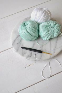 FRIVOLE #crochet #white #mint