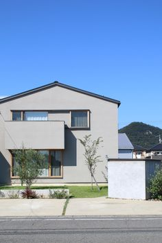 Japanese Modern House, Prefab, Modern Architecture, Exterior, House Design, Mansions, House Styles, Garden, Outdoor Decor