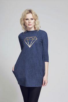 FNDLK úpletové šaty 60 BVqL_blue Fashion Labels, Blues, Tunic Tops, My Style, Women, Women's