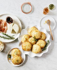 Bite-Sized Baked Brie With Honey and Rosemary Via A Cup Of Jo