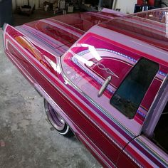 Custom Paint Jobs, Custom Art, Cadillac, Roof Paint, Candy Paint, Cool Old Cars, Lowrider Art, Pinstriping Designs, Low Low