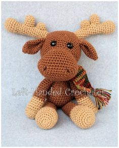 I made Marty the Moose to go with Randall the Reindeer, because I thought he needed a friend. While I think of reindeer as being a Christmas animal, a moose makes me think more of autumn for some r…