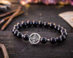 4mm matt schwarzem Onyx & Picasso Jaspis Perlen von GAALcollection