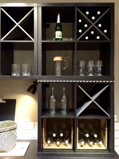 A Good Decision Is Better With Good Wine Tips * Check out this great article. Ikea Wine Rack, Built In Wine Rack, Ikea Hackers, Wine Storage, Ikea Furniture, Diy Room Decor, Home Decor, Life Hacks, Sweet Home