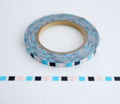 Blue Black Pink - Ultra Thin Washi Tape