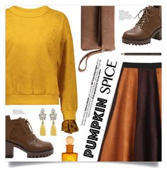 """Monochrome: Pumpkin Spice"" by mahafromkailash ❤ liked on Polyvore"