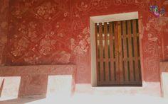 Trazos delicados y llenos de simbolismo en la pintura mural prehispánica de #Teotihuacán. #México #Tours #Recreación #Arqueología  #Historia #Prehispánico #Cultura #Entretenimiento #Viajes
