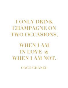 Coco Chanel champagne quote by BarkleysBaubles on Etsy, $5.00