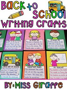 Back to School NO PREP Writing crafts bundle - super fun writing crafts that are NO PREP... seriously! Save this link!!