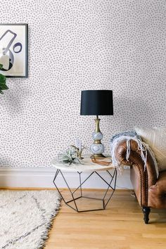 Self adhesive Cute Spot pattern Wallpaper / Scallop Removable Wallpaper / Wall Mural / Polka dot Wall sticker - 140 PARIS/ SNOW
