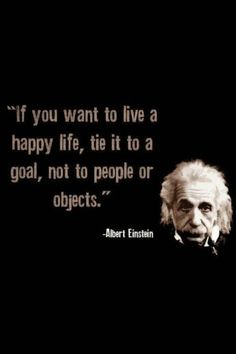 If you want to live a happy life...  #inspiration #motivation #wisdom #quote #quotes #life #AlbertEinstein