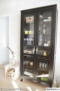 hemnes vitrinskpsvart vitrinskp plywooddecor inspirationwooden beadsikea hacksshelvingcabinetdining roomlove - Dining Room Cabinets Ikea