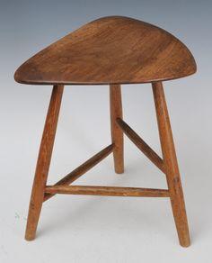 Wharton Esherick stool sold May 18th, 2014 for $4,200, www.fairfieldauction.com