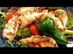Calamari la tigaie gata in 2 minute - YouTube Calamari, Meat, Chicken, Youtube, Food, Beef, Eten, Meals